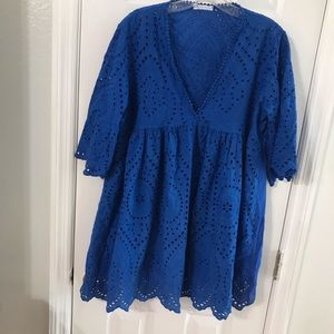 XL royal blue top knit women